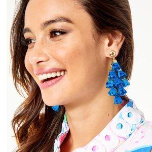 LILLY PULITZER Hey Bouquet Earrings Bennet Blue